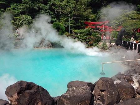 aqua: The blue spring, Beppu onsen, Japan