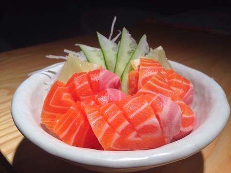 Salmon sashimi Stock Photo