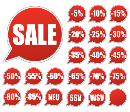reduced: Sale discount stickers - Price Tags  Illustration