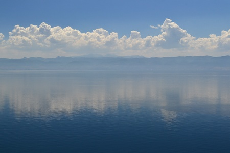 Ohrid Lake seen from Galicica National Park from Macedonia photo