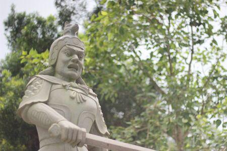 Stil: A knight who stand stil Stock Photo