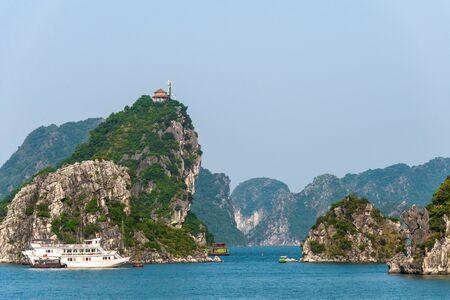 long bay: Limestone rocks at Ha Long Bay. South China Sea. Vietnam.