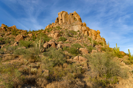 Desert trailhead at Pinnacle Peak in Scottsdale, Arizona.