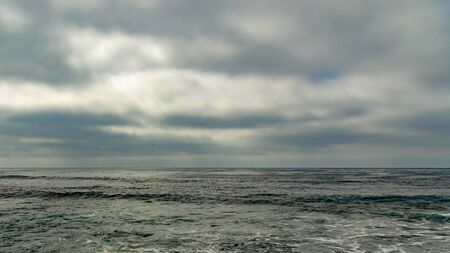 The rolling tide of the Pacific Ocean in La Jolla, California. Zdjęcie Seryjne
