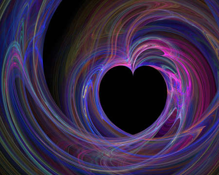 desires: Colorful heart - fractal illustration