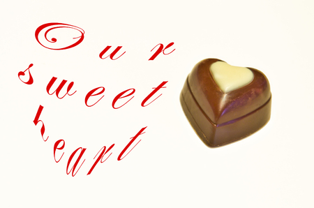 immense: a sweet chocolate heart for our immense love Stock Photo