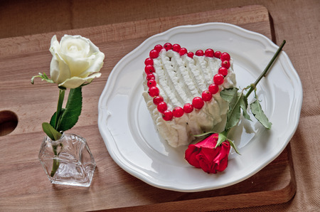 sweetness: A heart of sweetness and roses , the symbol of our love