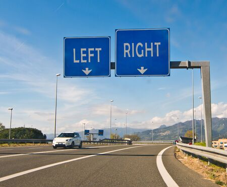 right choice: the difficult moment of choice go right or go left
