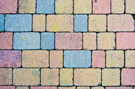 modular rhythm: paving pattern stone blocks with shape and color irregular