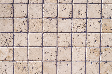 small hard stone tiles to cover the walls of your home or your garden Stock Photo