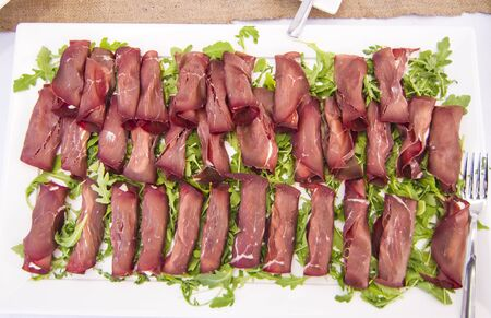 deletions and colorful appetizers and snacks for your party or for your lunch:.bresaola and fresh cheese