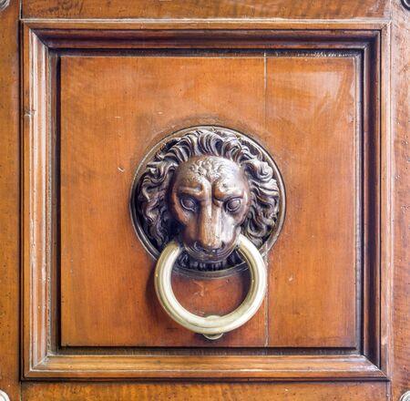 beautiful historic building knocker important for history, art and architecture Foto de archivo