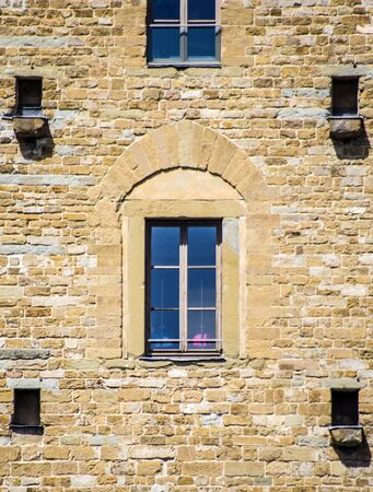 beautiful window of historic building important for history, art and architecture