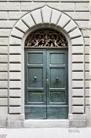 beautiful door of historic building important for the history, art and architecture of the Italian Renaissance Stock Photo