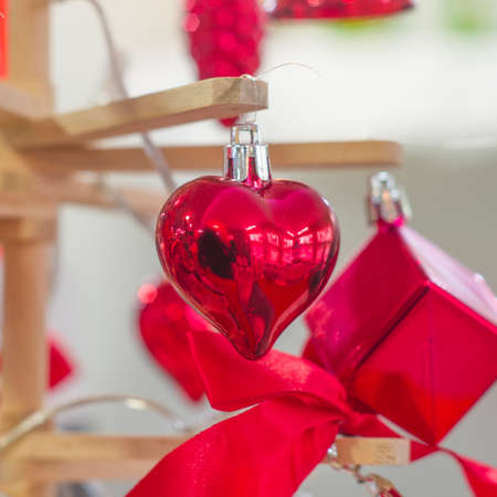 red heart to decorate the party of lovers, valentine's day