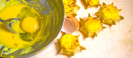 star-shaped sweets with excellent cream prepared with fresh eggs and ricotta