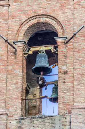 sound of the ancient bells on the tower of the ancient historic stone city