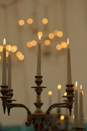 Candles and bokeh Stock fotó