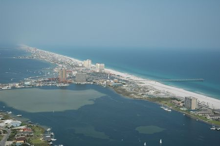 pensacola beach: Arial Photo of Pensacola Beach