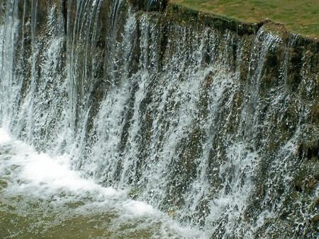 current: Nature: river, riverside, current water, fountain Stock Photo
