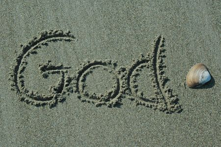 Sand Writing - God With Shell Accent photo