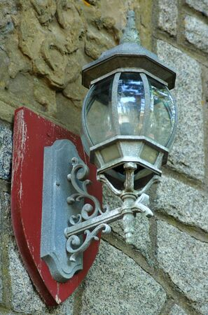 Old Fashioned Light Fixture On a Castle Wall