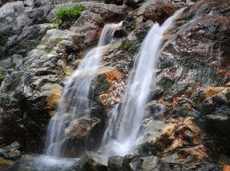 Roaring Brook Falls in Keene Valley, NY, is a fantastic two-level waterfall  Stock fotó