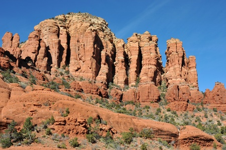 Breathtaking scenery along the Broken Arrow trail in Sedona, Arizona Imagens