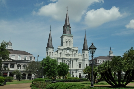 Jackson Square in New Orleans, Louisiana, on a spring day