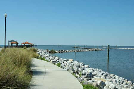 Ken Combs Pier in Bilox, Mississippi, at the edge of the Gulf of Mexico
