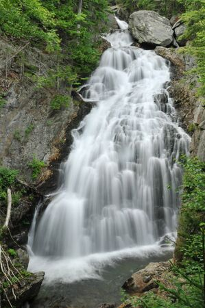 notch: Crystal Cascade in Pinkham Notch, New Hampshire