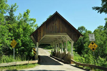 building structures: Greenbanks Hollow covered bridge in Danville, Vermont