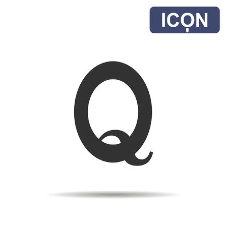 q: Q symbol icon vector Illustration