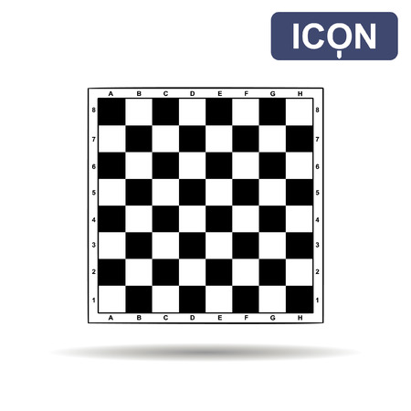 Chessboard icon vector