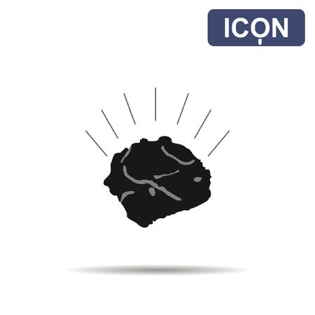 sedimentary: Ore icon vector