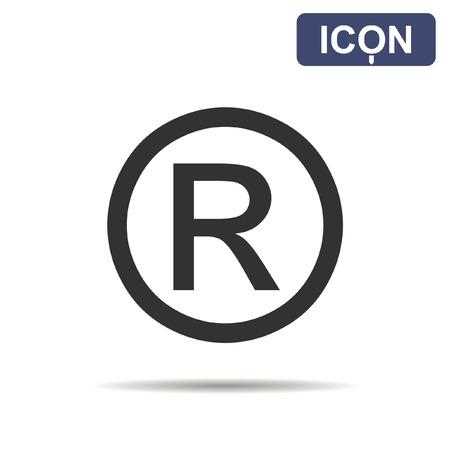 trademark: Registered trademark icon vector
