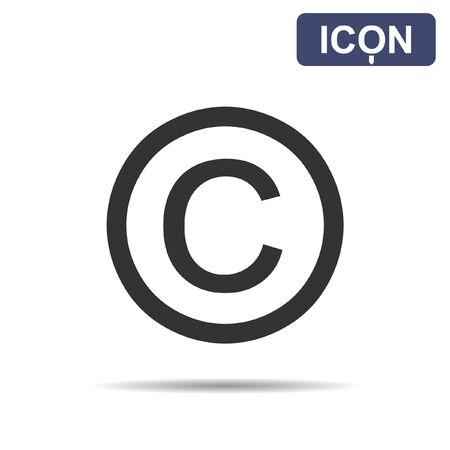 copyright: Copyright symbol icon vector
