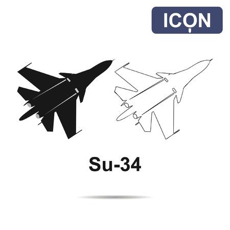 su: Su-34 fighter-bomber vector