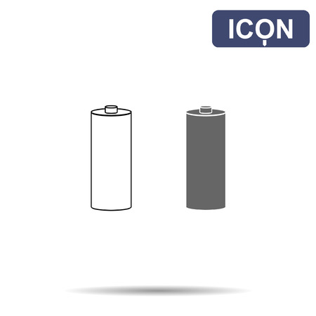 button batteries: battery icon vector
