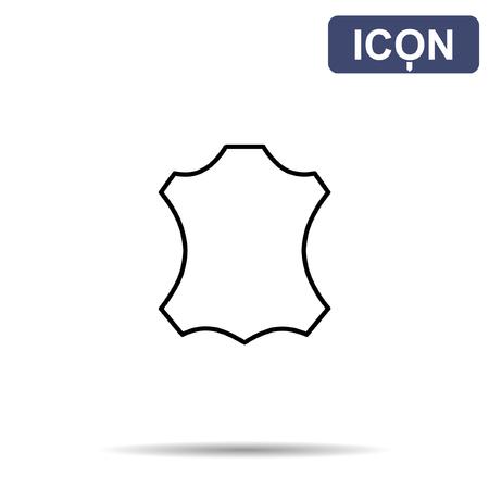 Leder-Symbol Vektor Vektorgrafik