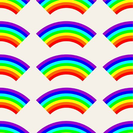 seamless pattern: seamless vector pattern with rainbows Illustration