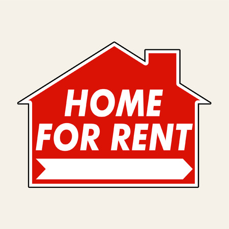 rent: home for rent sign vector