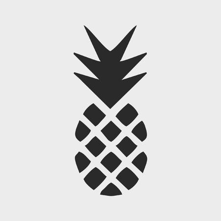 summer diet: Pineapple icon vector