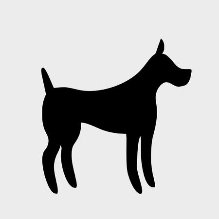 animal mouth: dog icon vector