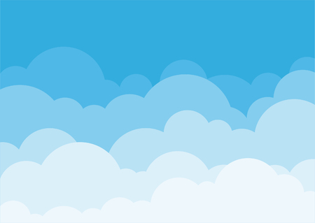 Blue sky background with cloud set