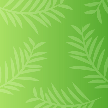 Green nature background with leaf abstract vector in flat design style