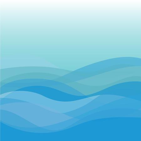 Niebieska fala wektor streszczenie tło płaska konstrukcja Ilustracje wektorowe