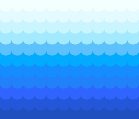 Blue wave line zigzag vector abstract background flat design style