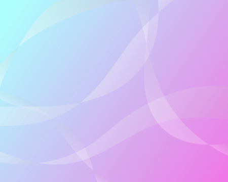 White wave vector pastel color abstract background in flat design Illustration