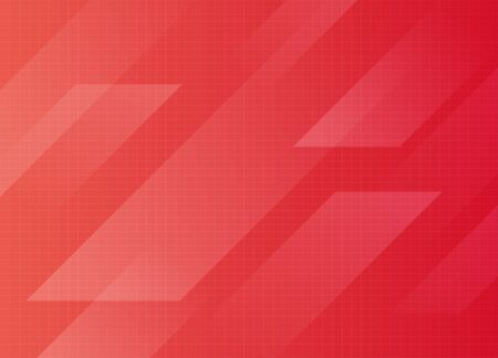 Geometric abstract line futuristic concept red gradient background vector design illustration. Ilustrace